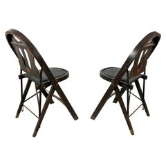 Louis Rostetter & Sons Turn of the Century Industrial Folding Chairs, SFMOMA