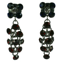 Louis Rousselet French Crystal Chain Mail Earclips