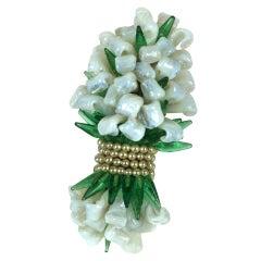 Louis Rousselet Large Bouquet Brooch