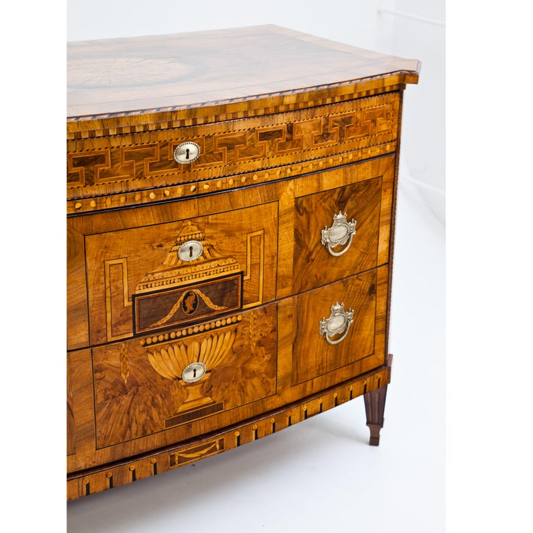 German Louis-Seize Chest of Drawers, Dresden, circa 1790 For Sale