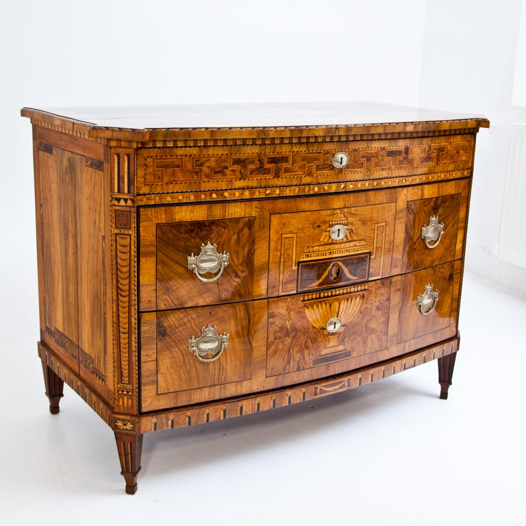 Walnut Louis-Seize Chest of Drawers, Dresden, circa 1790 For Sale