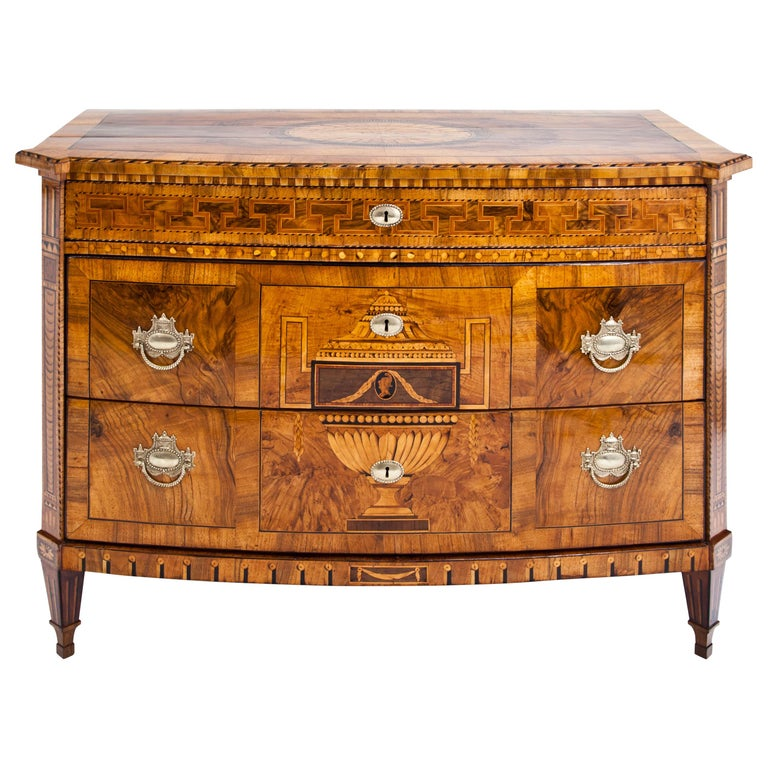 Louis-Seize Chest of Drawers, Dresden, circa 1790 For Sale