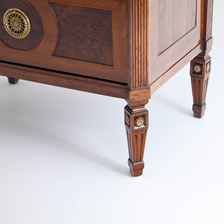 Walnut Louis Seize Chest of Drawers, France, Late 18th Century