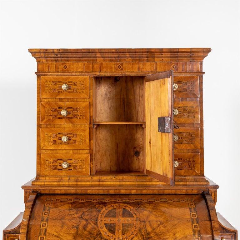 Walnut Louis Seize Cylinder Secretaire, South German, c. 1780/90 For Sale
