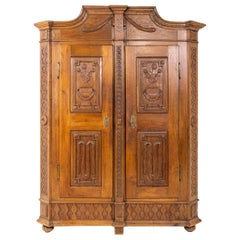 Louis Seize Oak Cabinet, Late 18th Century