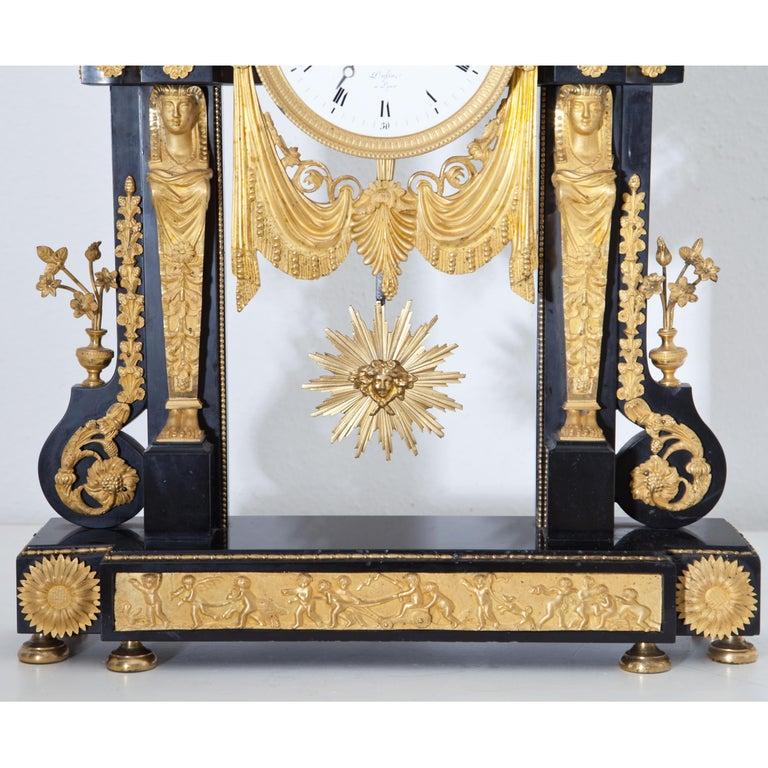 Louis Seize Portal Pendule, France, Late 18th Century 5