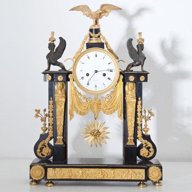 Louis Seize Portal Pendule, France, Late 18th Century In Good Condition In Greding, DE
