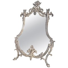 Louis Seize Style Silver Plated Mirror