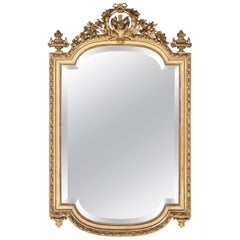 Louis Seize-Style Wall Mirror, Second Half of the 19th Century