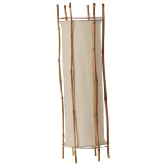 Louis Sognot Bamboo Floor Lamp, France, circa 1960