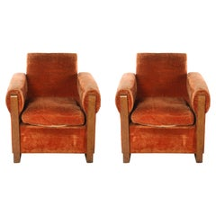 Louis Sognot Pair of Modernist Club Chairs