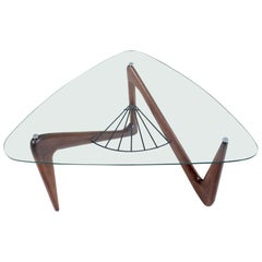 Louis Sognot, Tripod Coffee Table, France, 1955