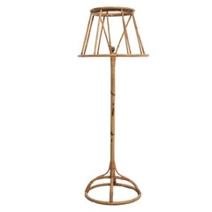 Louis Sognoty-Style Bamboo Floor Lamp by Trio Noordwolde, Netherlands, 1960s
