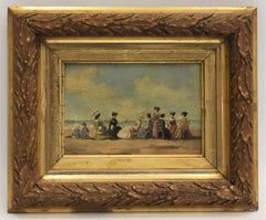 Company on the beach Louis Soonius Dutch Impressionist French Boudin