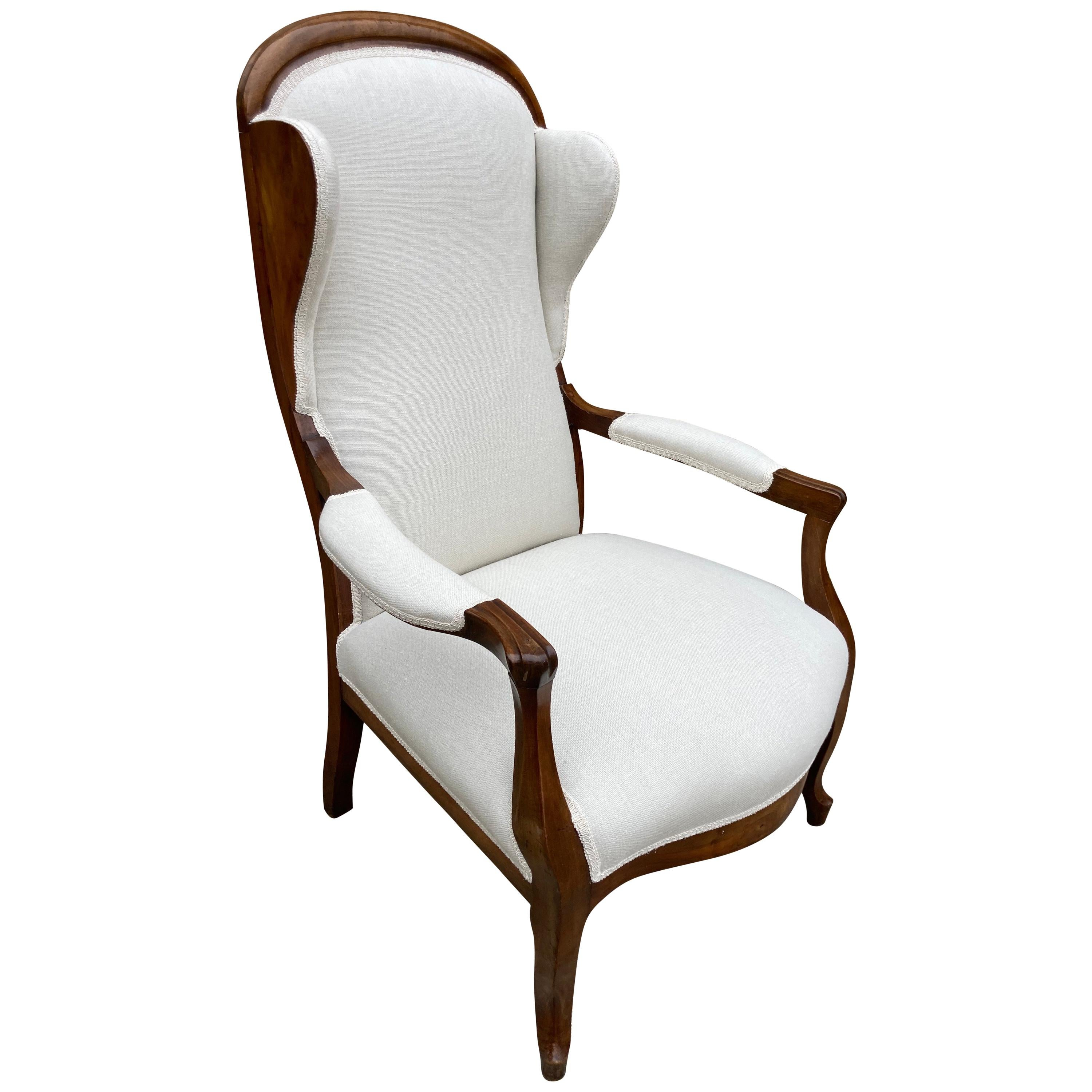 Louis Style Wingback Chair