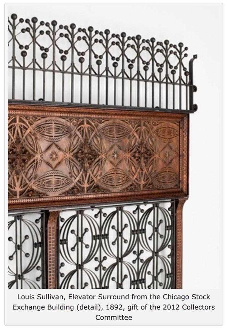 Late 19th Century Louis Sullivan Decorative Panel, 1893 Chicago Stock Exchange For Sale