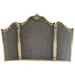 Louis XV Style Bronze Fire Place Screen, French, Circa 1920
