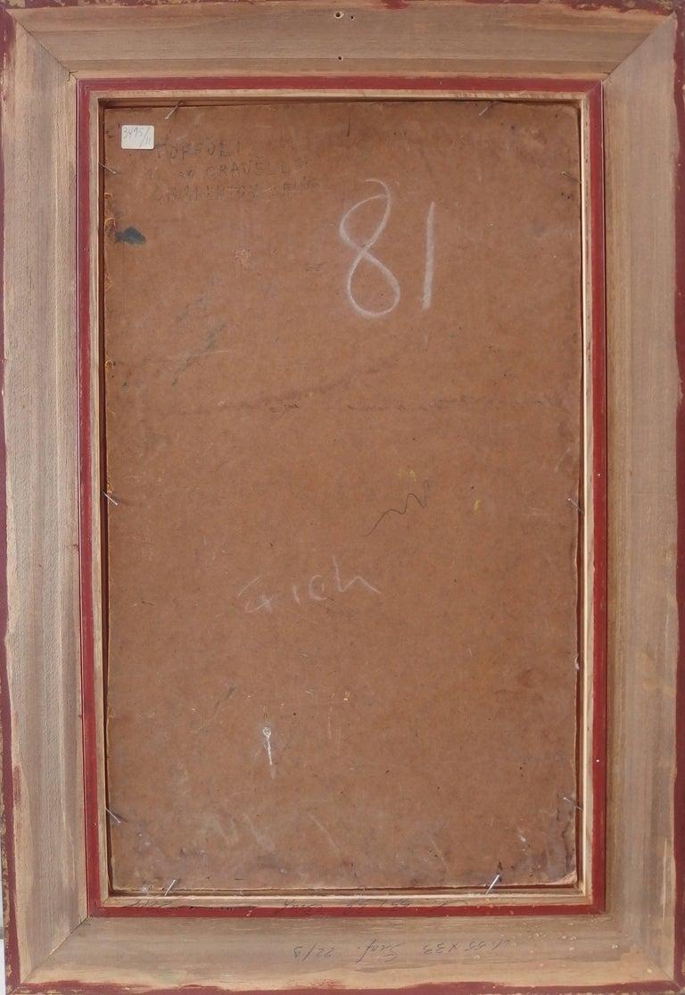 Spain, Aragon : Old Street of Ibdes - Original oil painting - Signed For Sale 3