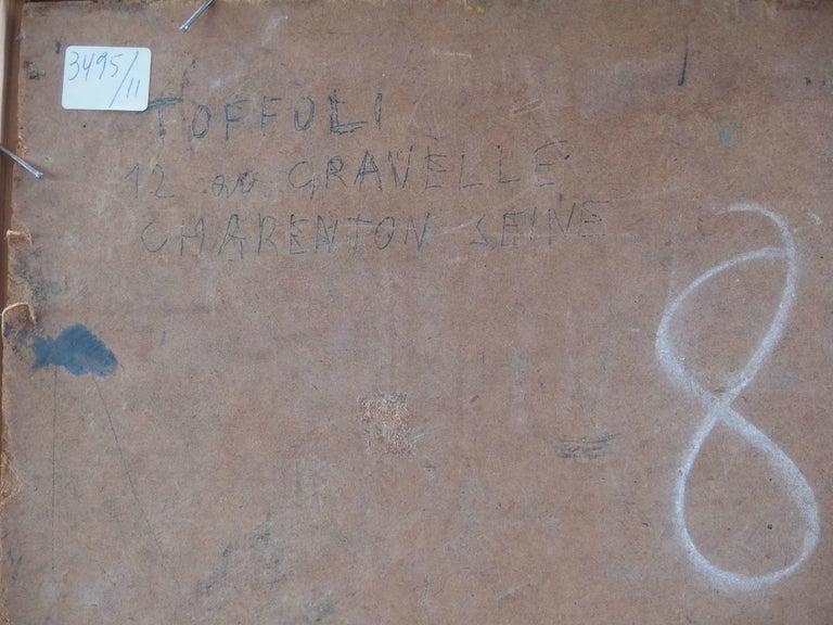 Spain, Aragon : Old Street of Ibdes - Original oil painting - Signed For Sale 4