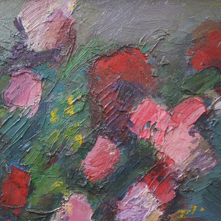 Bouquet de Fleurs au Vase Bleu For Sale 6
