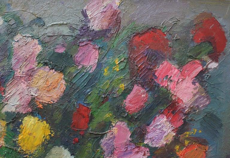 Bouquet de Fleurs au Vase Bleu For Sale 1
