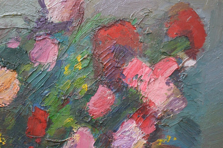 Bouquet de Fleurs au Vase Bleu For Sale 2