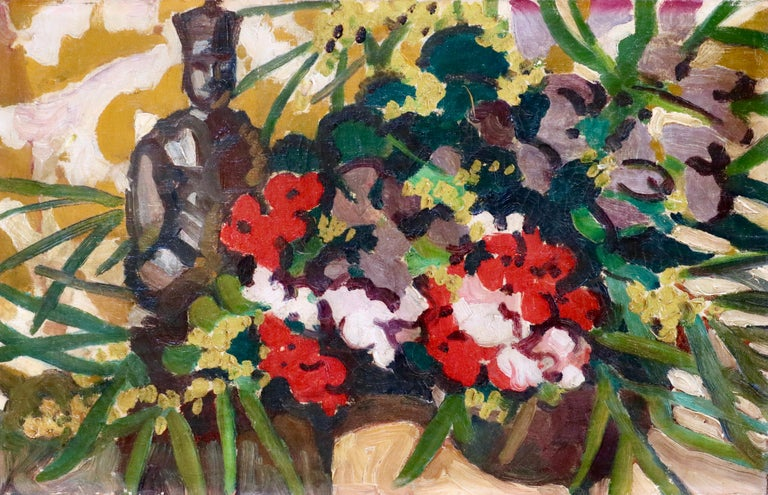 Oil on canvas circa 1910 by Louis Valtat depicting a still life of flowers and a statue. This painting is not currently framed but a suitable frame can be sourced if required.  Louis Valtat was a French painter and printmaker associated with the