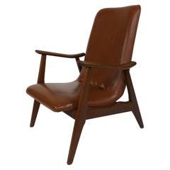 Louis Van Teeffelen 1960s Armchair, Mcm, Webe