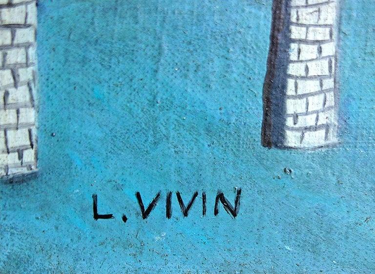 Le Pont Des Arts - Painting by Louis Vivin