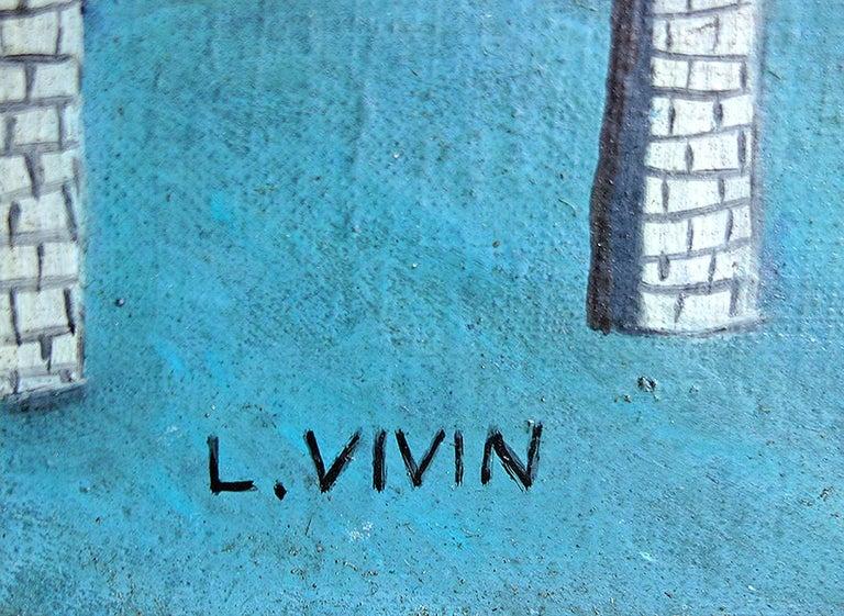 Le Pont Des Arts - Folk Art Painting by Louis Vivin