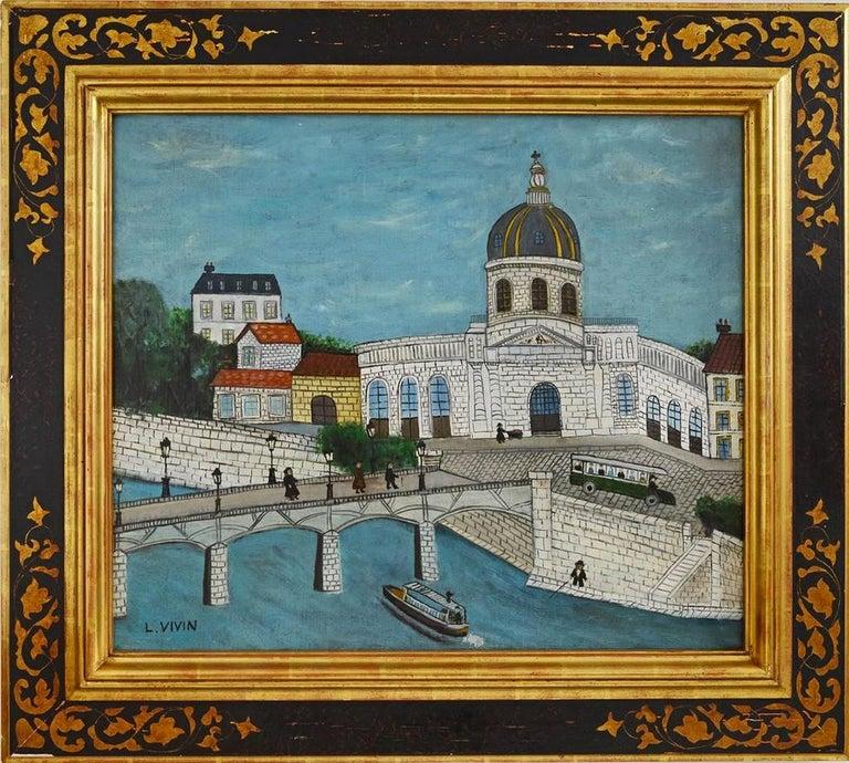 Louis Vivin Figurative Painting - Le Pont Des Arts