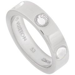 Louis Vuitton 18 Karat White Gold Band Ring