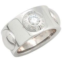 Louis Vuitton 18 Karat White Gold Grand Berg Crew Diamond Ring