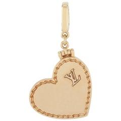 Louis Vuitton 18 Karat Yellow Gold Heart Locket Charm Pendant