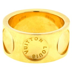 Louis Vuitton 18 Karat Yellow Gold Empreinte Band Ring