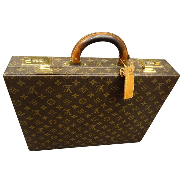 "Louis Vuitton 70s Briefcase  Attaché-Case President"", Cost price , Monogram"