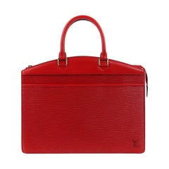 "LOUIS VUITTON 2000 ""Riviera"" Carmine Red Epi Leather Structured Handbag"
