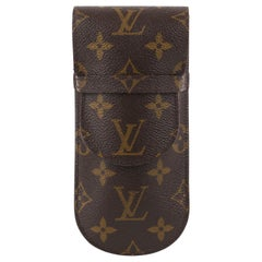 "LOUIS VUITTON 2002 ""Etui Lunettes Rabat"" Brown Monogram Flap Top Eyeglasses Case"