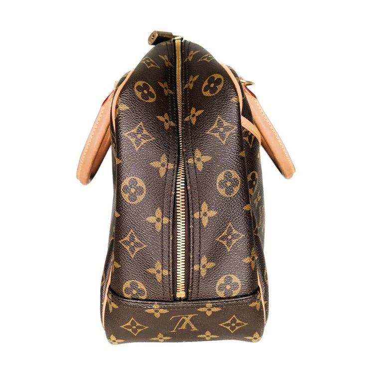 Black Louis Vuitton 2005 Monogram Canvas Deauville Bag For Sale