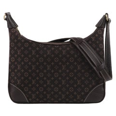 "LOUIS VUITTON 2008 ""Lin Boulogne"" Monogram Canvas Zip Top Hobo Shoulder Bag"