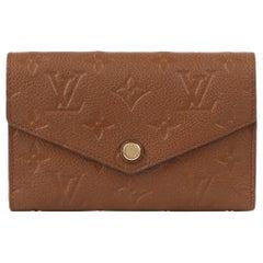 """LOUIS VUITTON 2013 """"Curieuse"""" Havane Empreinte Leather Trifold Compact Wallet"""