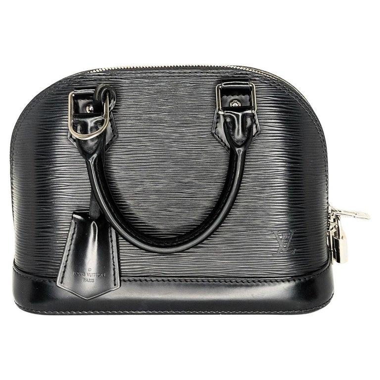 Louis Vuitton 2014 Black EPI Alma BB Satchel For Sale