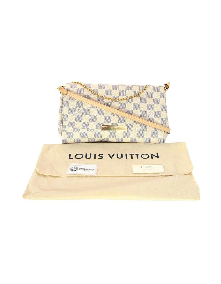77c8cf2199dda Louis Vuitton 2018 Damier Azur Canvas Favorite MM Crossbody Bag For Sale 5