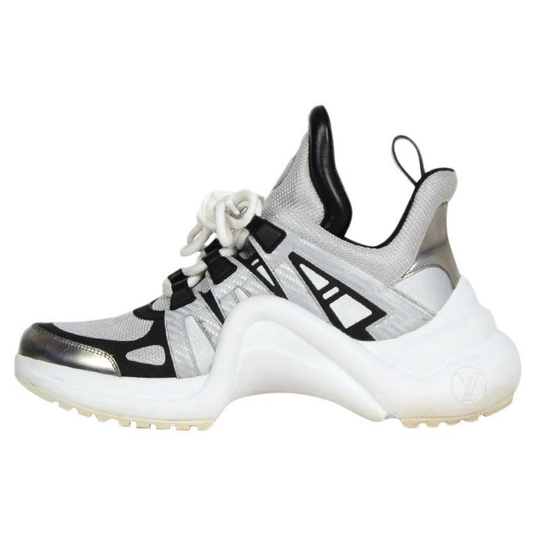 1d0a577a3dc Louis Vuitton 2018 Silver/Black Archlight Reflective Sneakers sz 39 rt  $1,500