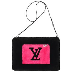 Louis Vuitton 2019 Black/Hot Pink LV In The City Beaver Muff w/ Crossbody Strap