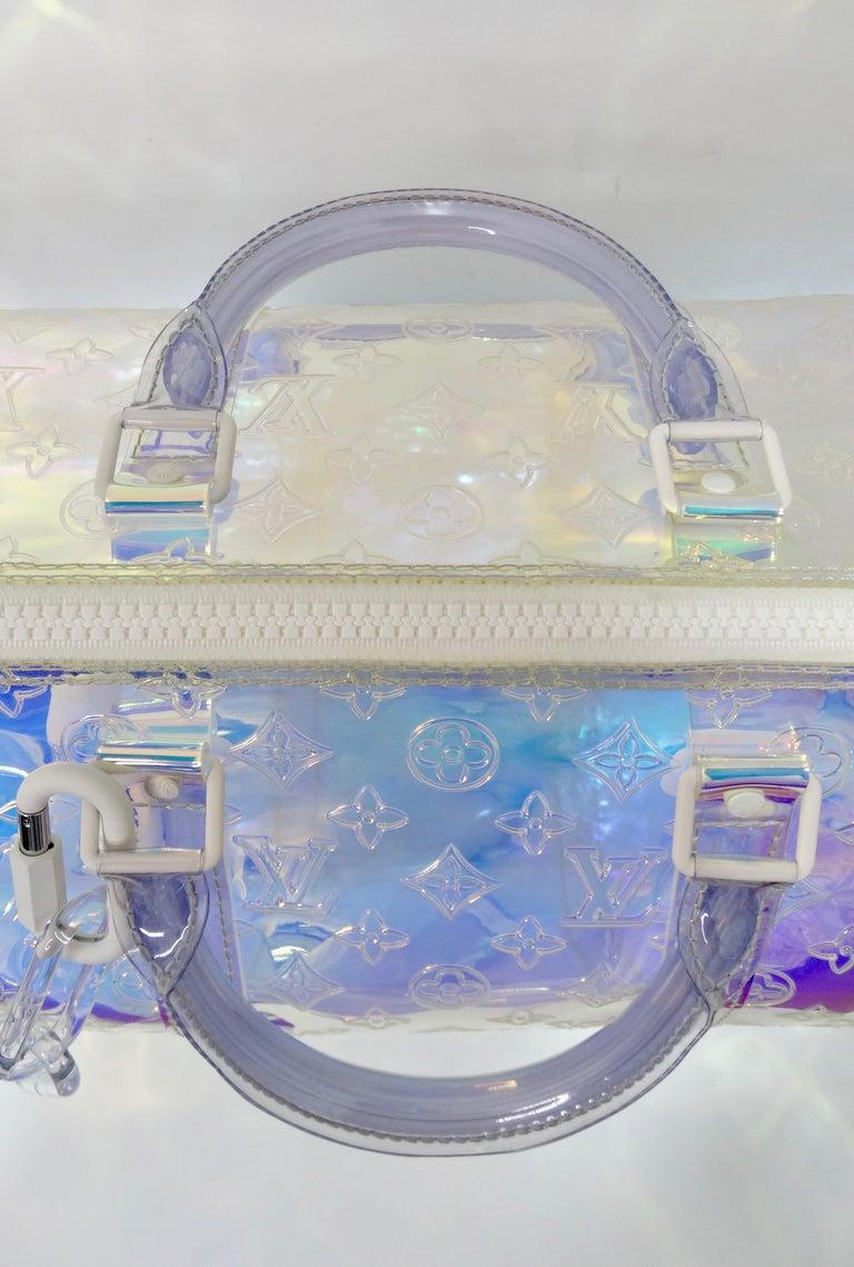 Louis Vuitton 2019 Prism Keepall Bandouliére 50 Duffle Bag For Sale 7