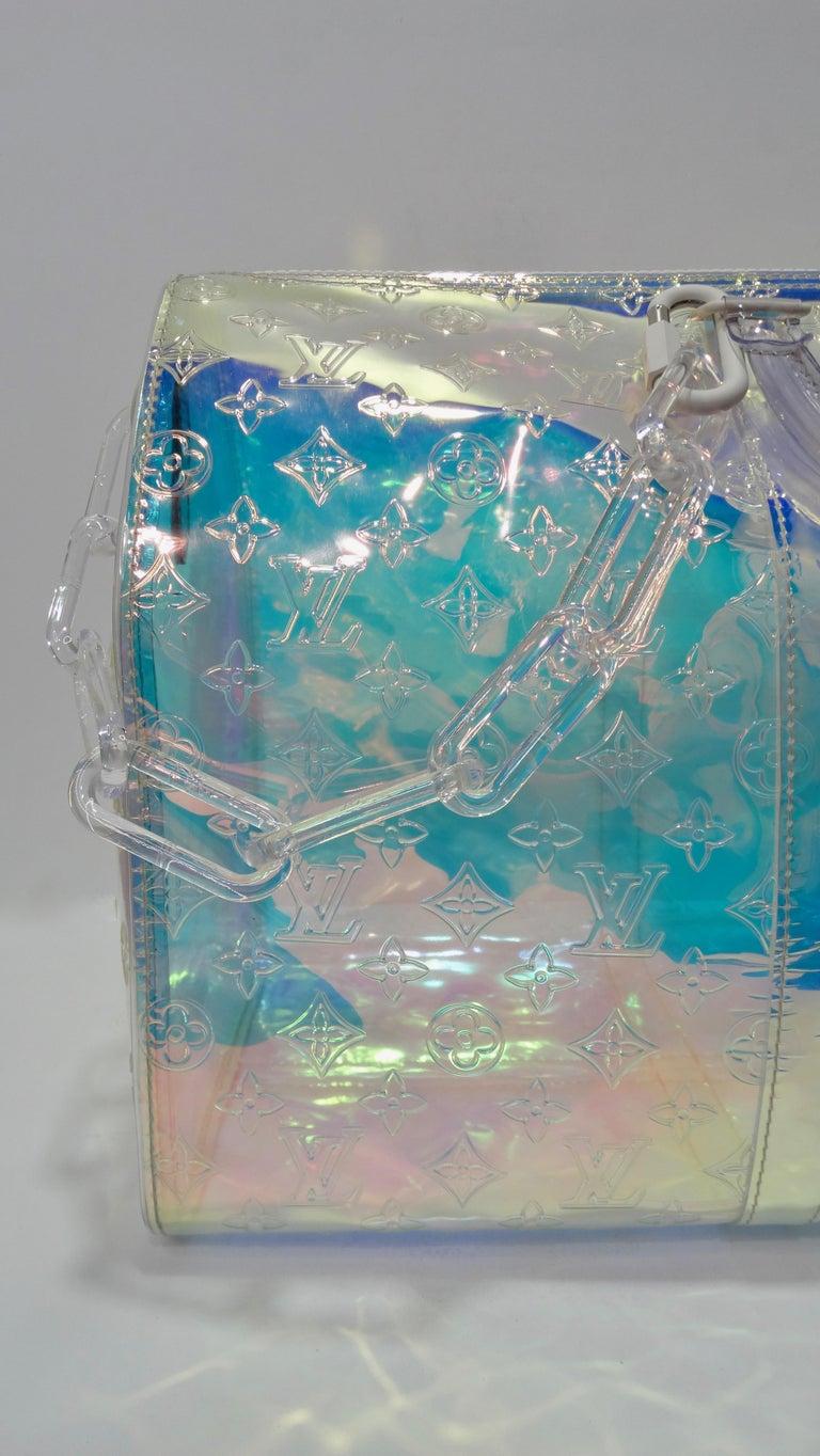 Louis Vuitton 2019 Prism Keepall Bandouliére 50 Duffle Bag For Sale 11