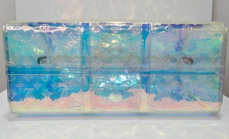 Louis Vuitton 2019 Prism Keepall Bandouliére 50 Duffle Bag For Sale 1