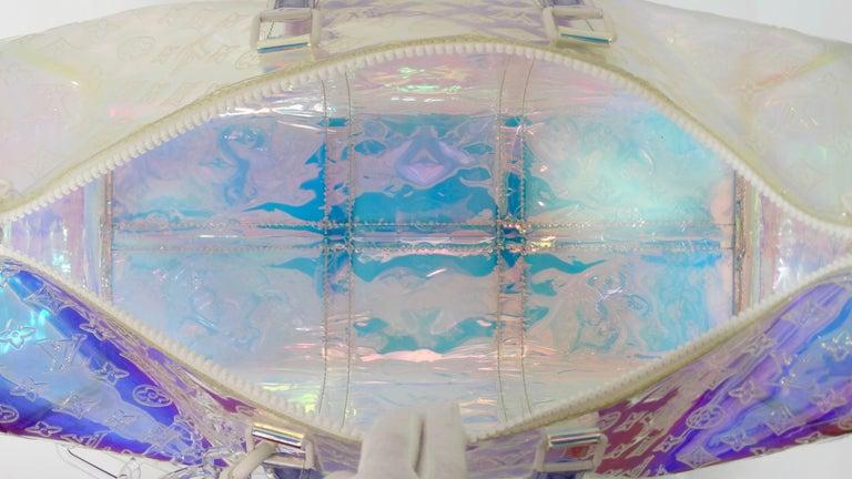 Louis Vuitton 2019 Prism Keepall Bandouliére 50 Duffle Bag For Sale 3