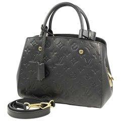 LOUIS VUITTON 2WAY shoulder bag MontaigneBB Womens handbag M41053 black